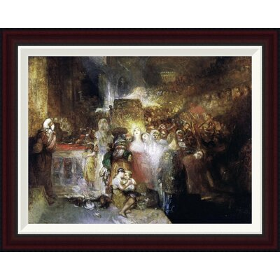 Pilate Washing His Hands by Joseph M.W. Turner Framed Painting Print Size: 20.5