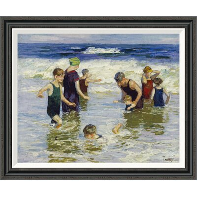 'The Bathers' by Edward Henry Potthast Framed Painting Print GCF-268400-30-194