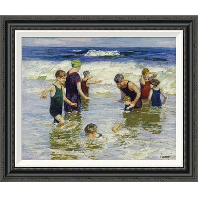 'The Bathers' by Edward Henry Potthast Framed Painting Print GCF-268400-22-194