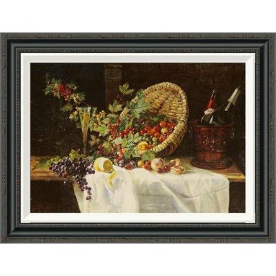 'Cherries and Gooseberries in a Basket' by Gertrud Trefftz Framed Painting Print Size: 21.4
