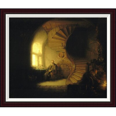 Philosopher in Meditation by Rembrandt Van Rijn Framed Painting Print