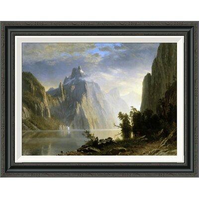 'A Lake in the Sierra Nevada' by Albert Bierstadt Framed Painting Print GCF-276733-22-194