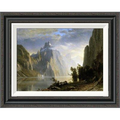 'A Lake in the Sierra Nevada' by Albert Bierstadt Framed Painting Print GCF-276733-16-194
