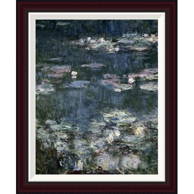 Nymph�as - Water Lilies (detail) by Claude Monet Framed Painting Print GCF-278689-22-288