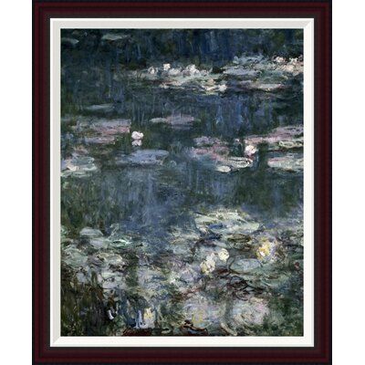Nymph�as - Water Lilies (detail) by Claude Monet Framed Painting Print GCF-278689-30-288