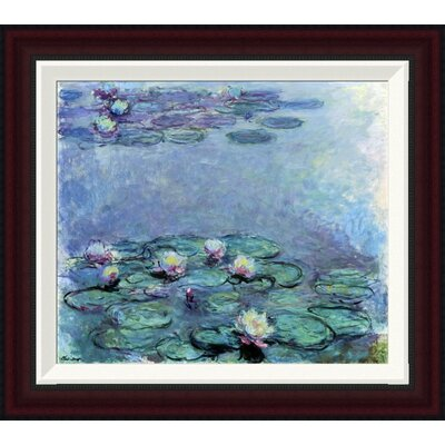 Water Lilies (Nymph�as) 1914-1917 by Claude Monet Framed Painting Print GCF-278742-16-288