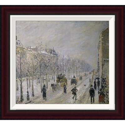 The Effect of Snow on the Boulevard's Appearance by Camille Pissarro Framed Painting Print Size: 18.3