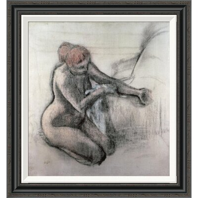 'Nude Woman Drying Herself After the Bath' by Edgar Degas Framed Painting Print GCF-277331-22-194