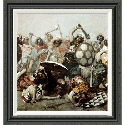 'Joshua Destroys the Giants' by James Tissot Framed Painting Print Size: 28