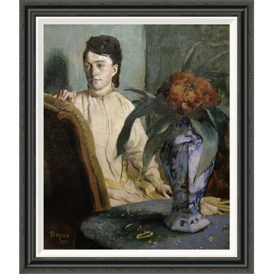 'Woman with Porcelain Vase' by Edgar Degas Framed Painting Print Size: 36