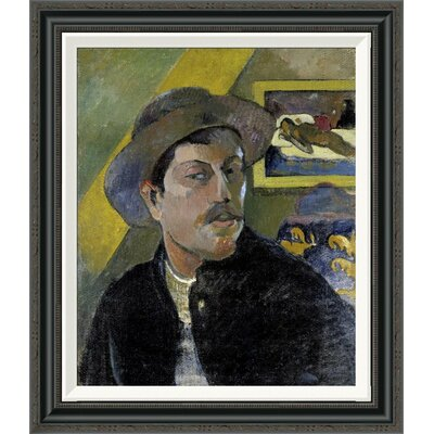 'Portrait of the Artist, (Portrait de l'Artiste) (i)' by Paul Gauguin Framed Painting Print GCF-277645-22-194