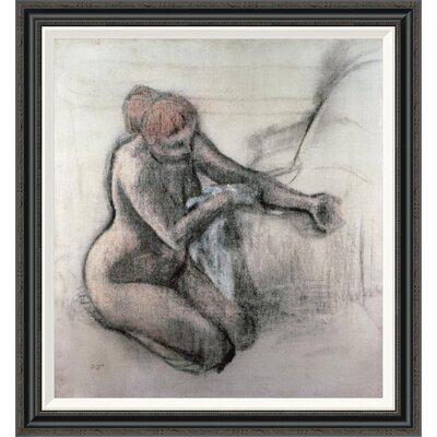 'Nude Woman Drying Herself After the Bath' by Edgar Degas Framed Painting Print GCF-277331-30-194