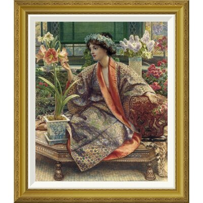 'A Hot-House Flower' by Sir Edward John Poynter Framed Painting Print