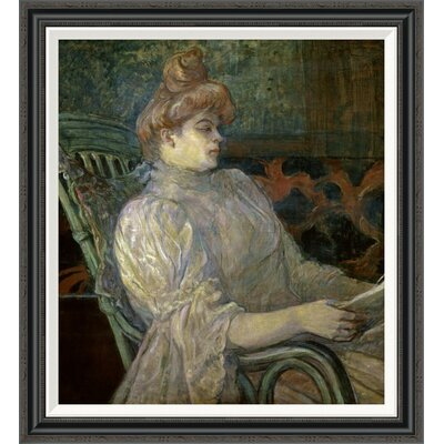 'Woman Reading (Femme Lisant)' by Henri Toulouse-Lautrec Framed Painting Print GCF-278197-30-194