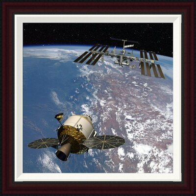 Orion Docking at the International Space Station, Project Constellation by NASA Framed Photographic Print GCF-393580-1818-288