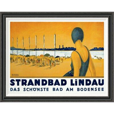 Strandbad Lindau by Charles Metzger Framed Vintage Advertisement Size: 31.3
