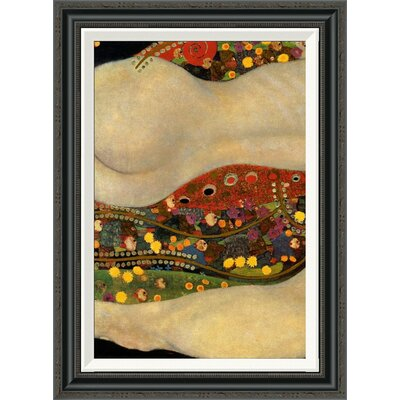 'Sea Serpents V (left)' by Gustav Klimt Framed Painting Print Size: 30