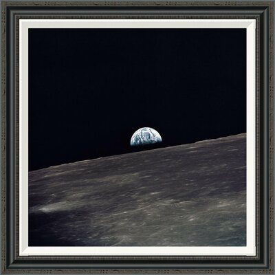 'Earthrise, viewed from Apollo 10, 1969' by NASA Framed Grapic Art Size: 30