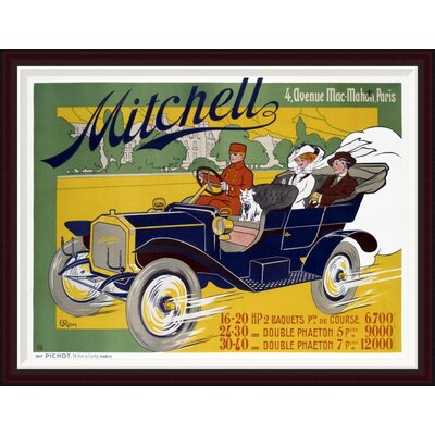 Mitchell by G. Riom Framed Vintage Advertisement Size: 33.8