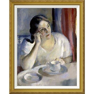 'A Cup of Tea La Tasse de Th' by Henri Ottmann Framed Painting Print GCF-282647-30-209
