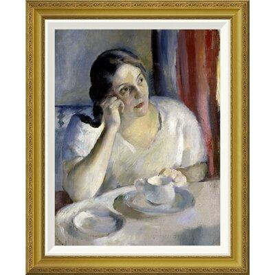 'A Cup of Tea La Tasse de Th' by Henri Ottmann Framed Painting Print GCF-282647-22-209