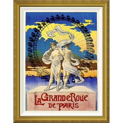 'La Grande Roue de Paris' Framed Vintage Advertisement GCF-294638-22-209