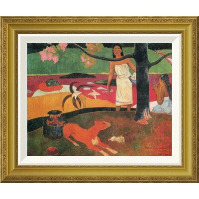 'Tahitian Pastorals' by Paul Gauguin Framed Painting Print Size: 29.4