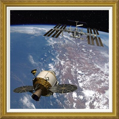 'Orion Docking at the International Space Station, Project Constellation' by NASA Framed Wall Art GCF-393580-3030-209