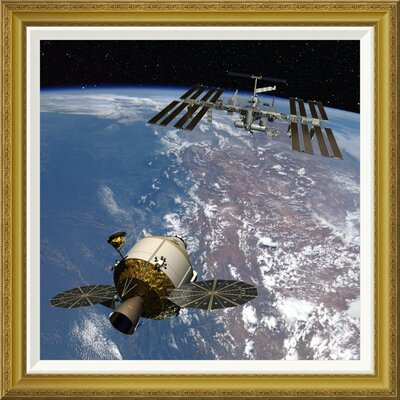 'Orion Docking at the International Space Station, Project Constellation' by NASA Framed Wall Art GCF-393580-2424-209