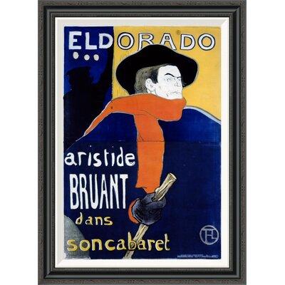 'Eldorado / Aristide Bruant' by Henri Toulouse-Lautrec Framed Vintage Advertisement