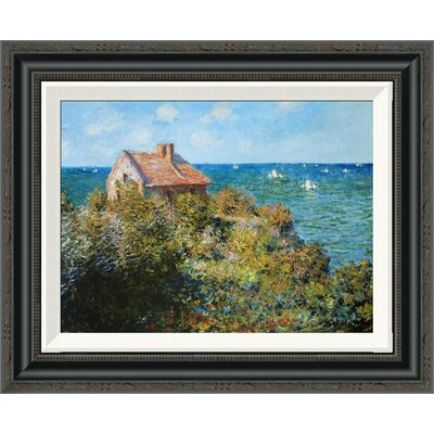 'Fishermans Cottage' by Claude Monet Framed Painting Print Size: 17.84