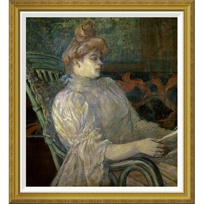 'Woman Reading (Femme Lisant)' by Henri Toulouse-Lautrec Framed Painting Print GCF-278197-30-209