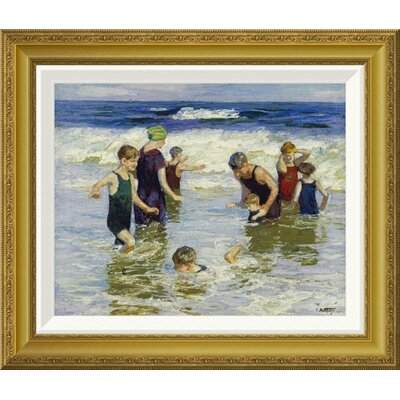 'The Bathers' by Edward Henry Potthast Framed Painting Print GCF-268400-16-209