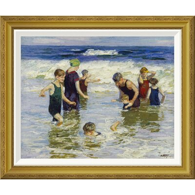 'The Bathers' by Edward Henry Potthast Framed Painting Print GCF-268400-22-209