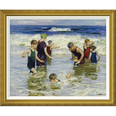 'The Bathers' by Edward Henry Potthast Framed Painting Print GCF-268400-30-209