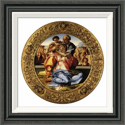 'Michelangela the Doni Tondo-3' by Michelangelo Framed Painting Print Size: 22