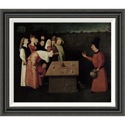 'The Conjuror' by Hieronymus Bosch Framed Painting Print Size: 24.04