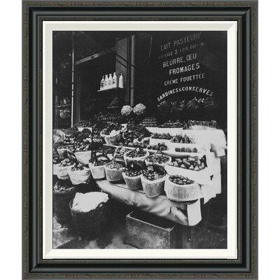 'Paris, 1908-1912 - Produce Display, rue Sainte-Opportune' by EugÍÎne Atget Framed Painting Print Size: 36