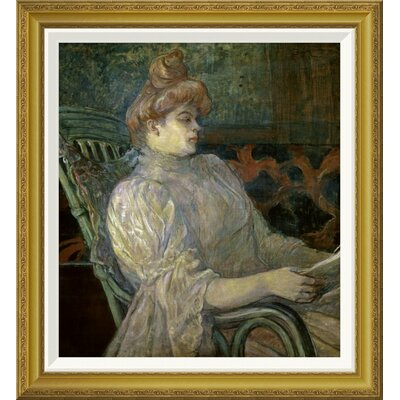 'Woman Reading (Femme Lisant)' by Henri Toulouse-Lautrec Framed Painting Print GCF-278197-22-209
