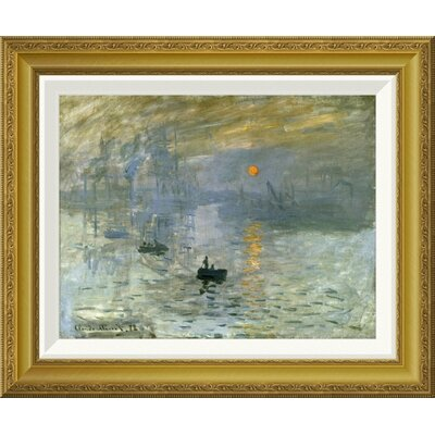 'Impression: Sunrise' by Claude Monet Framed Painting Print GCF-278665-16-209