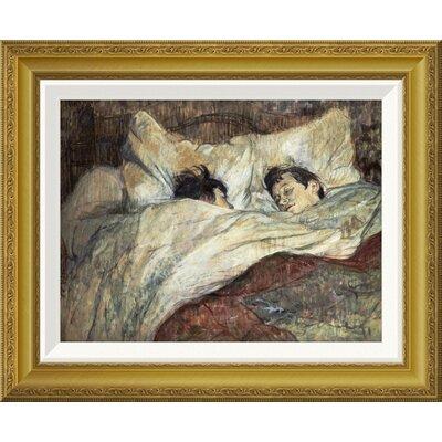 'Le Lit' by Henri Toulouse-Lautrec Framed Painting Print Size: 18.05