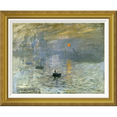 'Impression: Sunrise' by Claude Monet Framed Painting Print GCF-278665-22-209
