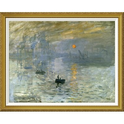 'Impression: Sunrise' by Claude Monet Framed Painting Print GCF-278665-36-209