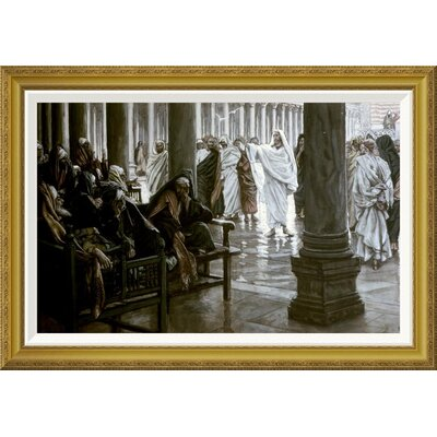 'Woe Unto You Scribes & Pharisees' by James Tissot Framed Painting Print Size: 25.11