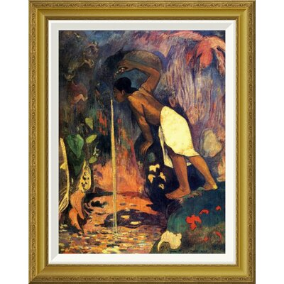 'Mysterious Water' by Paul Gauguin Framed Painting Print Size: 28