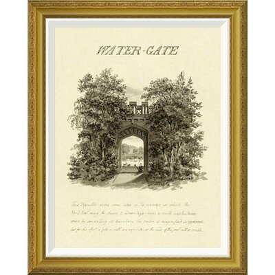 'Water-Gate, 1813' by Humphry Repton Framed Wall Art
