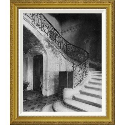 """'Paris, 1900 - Staircase, H̫tel de Brinvilliers' by Eug̬ne Atget Framed Photographic Print Size: 28"""" H x 23.6"""" W x 1.5"""" D GCF-455114-22-209"""