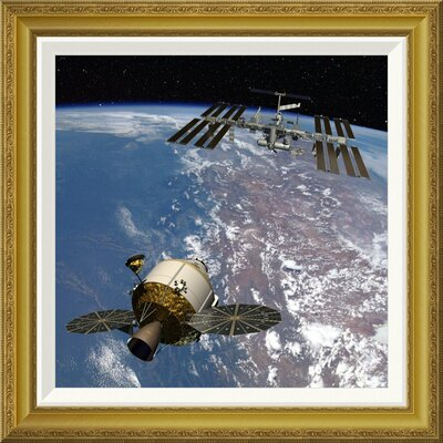 'Orion Docking at the International Space Station, Project Constellation' by NASA Framed Wall Art GCF-393580-1818-209