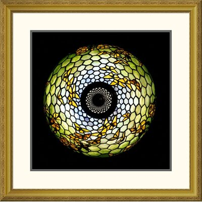 """'Overhead Detail of a Butterfly' by Tiffany Studios Framed Graphic Art Size: 25.91"""" H x 26"""" W x 1.5"""" D DPF-265616-16-109"""