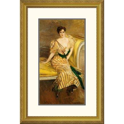 'Portrait of Madame Josephina Alvear De Errazuriz' by Giovanni Boldini Framed Painting Print Size: 46